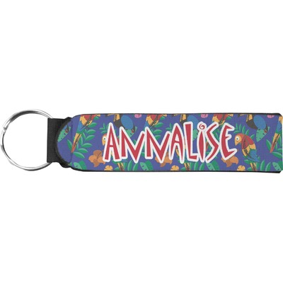 Parrots & Toucans Neoprene Keychain Fob (Personalized)