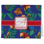 Parrots & Toucans Kitchen Towel - Full Print (Personalized)