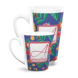 Parrots & Toucans Latte Mug (Personalized)