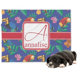 Parrots & Toucans Minky Dog Blanket (Personalized)