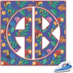 Parrots & Toucans Monogram Iron On Transfer (Personalized)