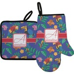 Parrots & Toucans Oven Mitt & Pot Holder (Personalized)