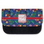 Parrots & Toucans Canvas Pencil Case w/ Name and Initial