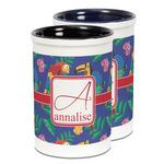 Parrots & Toucans Ceramic Pencil Holder - Large