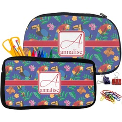 Parrots & Toucans Neoprene Pencil Case (Personalized)