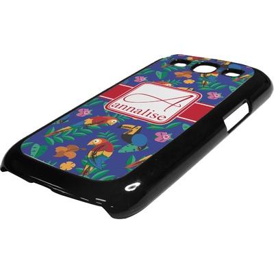 Parrots & Toucans Plastic Samsung Galaxy 3 Phone Case (Personalized)