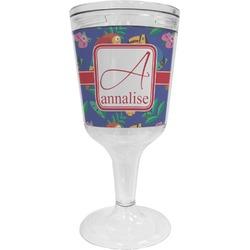 Parrots & Toucans Wine Tumbler - 11 oz Plastic (Personalized)