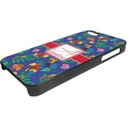 Parrots & Toucans Plastic iPhone 5/5S Phone Case (Personalized)