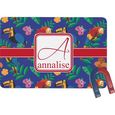 Parrots & Toucans Rectangular Fridge Magnet (Personalized)