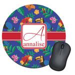 Parrots & Toucans Round Mouse Pad (Personalized)