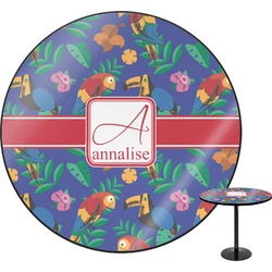 "Parrots & Toucans Round Table - 30"" (Personalized)"
