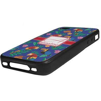 Parrots & Toucans Rubber iPhone Case 4/4S (Personalized)