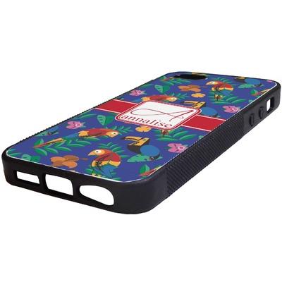 Parrots & Toucans Rubber iPhone 5/5S Phone Case (Personalized)