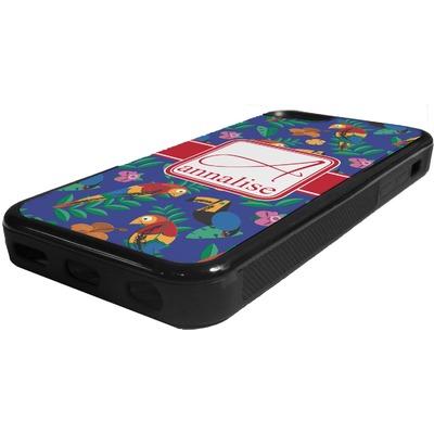 Parrots & Toucans Rubber iPhone 5C Phone Case (Personalized)