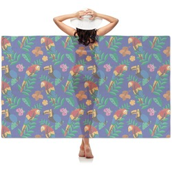 Parrots & Toucans Sheer Sarong (Personalized)