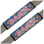 Parrots & Toucans Seat Belt Covers (Set of 2) (Personalized)