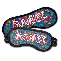 Parrots & Toucans Sleeping Eye Masks (Personalized)