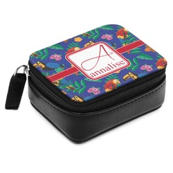 Parrots & Toucans Small Leatherette Travel Pill Case (Personalized)
