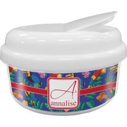 Parrots & Toucans Snack Container (Personalized)