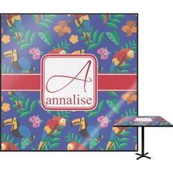 Parrots & Toucans Square Table Top (Personalized)