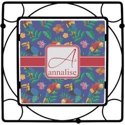 Parrots & Toucans Square Trivet (Personalized)