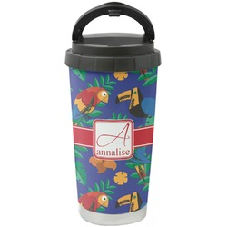 Parrots & Toucans Stainless Steel Travel Mug (Personalized)