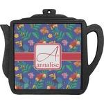 Parrots & Toucans Teapot Trivet (Personalized)