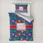 Parrots & Toucans Toddler Bedding w/ Name and Initial