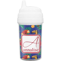 Parrots & Toucans Toddler Sippy Cup (Personalized)