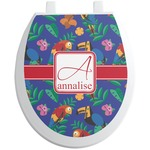 Parrots & Toucans Toilet Seat Decal (Personalized)