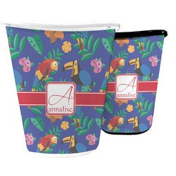 Parrots & Toucans Waste Basket (Personalized)