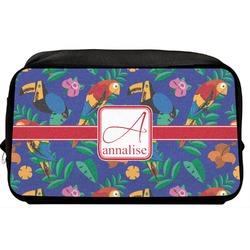 Parrots & Toucans Toiletry Bag / Dopp Kit (Personalized)