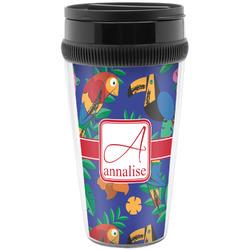 Parrots & Toucans Travel Mug (Personalized)