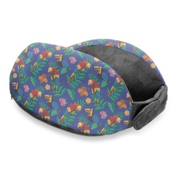 Parrots & Toucans Travel Neck Pillow