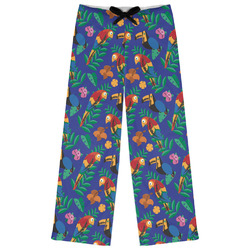 Parrots & Toucans Womens Pajama Pants (Personalized)