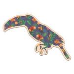 Parrots & Toucans Genuine Wood Sticker (Personalized)