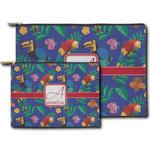 Parrots & Toucans Zipper Pouch (Personalized)