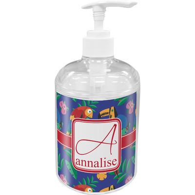 Parrots & Toucans Acrylic Soap & Lotion Bottle (Personalized)