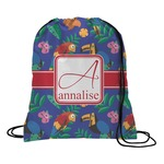Parrots & Toucans Drawstring Backpack (Personalized)