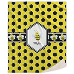 Honeycomb Sherpa Throw Blanket (Personalized)