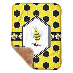 """Honeycomb Sherpa Baby Blanket 30"""" x 40"""" (Personalized)"""