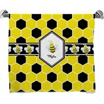 Honeycomb Full Print Bath Towel (Personalized)