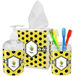 Honeycomb Acrylic Bathroom Accessories Set w/ Name or Text
