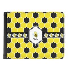 Honeycomb Genuine Leather Men's Bi-fold Wallet (Personalized)