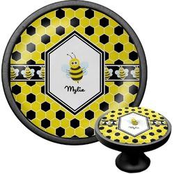 Honeycomb Cabinet Knob (Black) (Personalized)