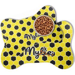 Honeycomb Bone Shaped Dog Food Mat (Personalized)