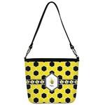 Honeycomb Bucket Bag w/ Genuine Leather Trim (Personalized)