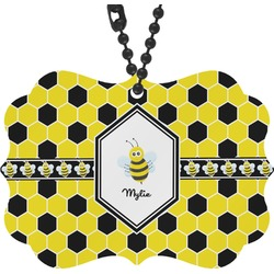 Honeycomb Rear View Mirror Charm (Personalized)
