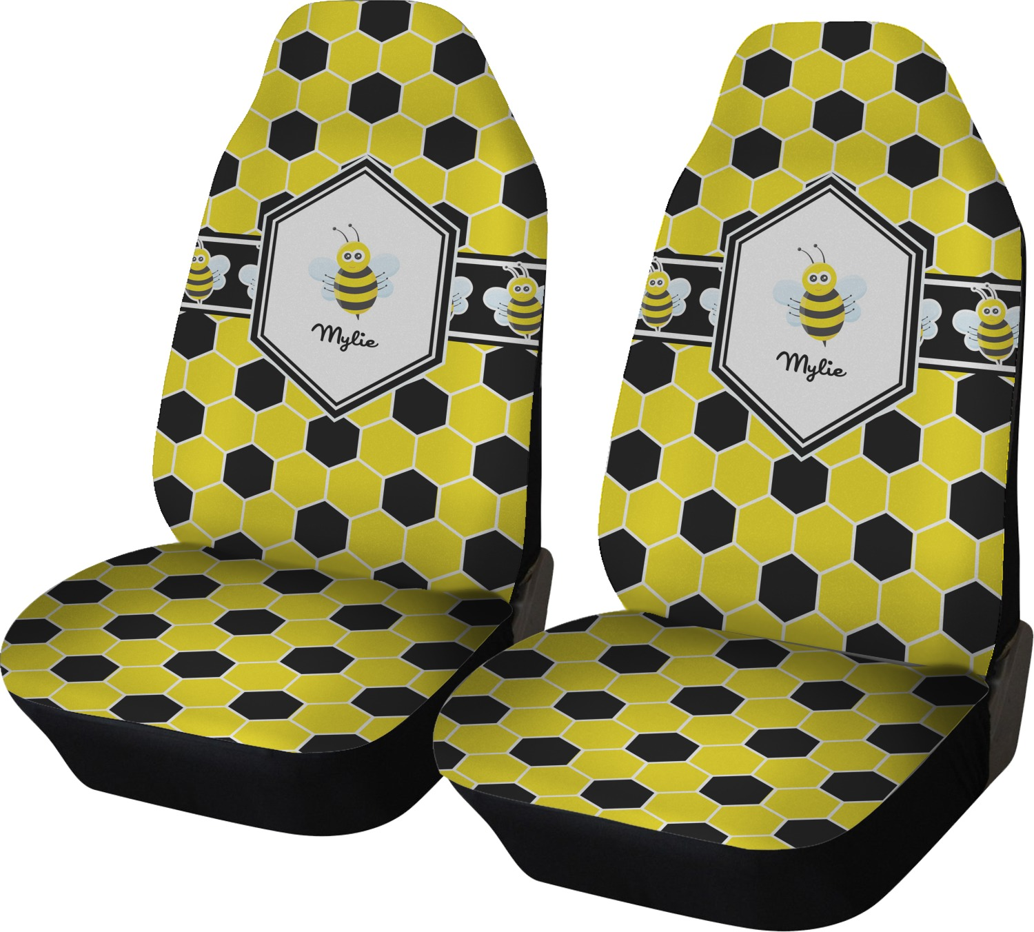 Honeycomb Car Seat Covers Set Of Two Personalized