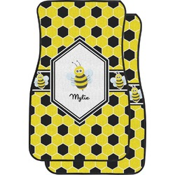Honeycomb Car Floor Mats (Front Seat) (Personalized)